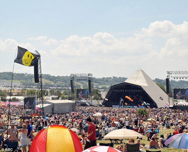 Cryptic: Glastonbury founder Michael Eavis, confirmed 'two British bands' will be joining together to headline the Sunday night Glastonbury slot last month