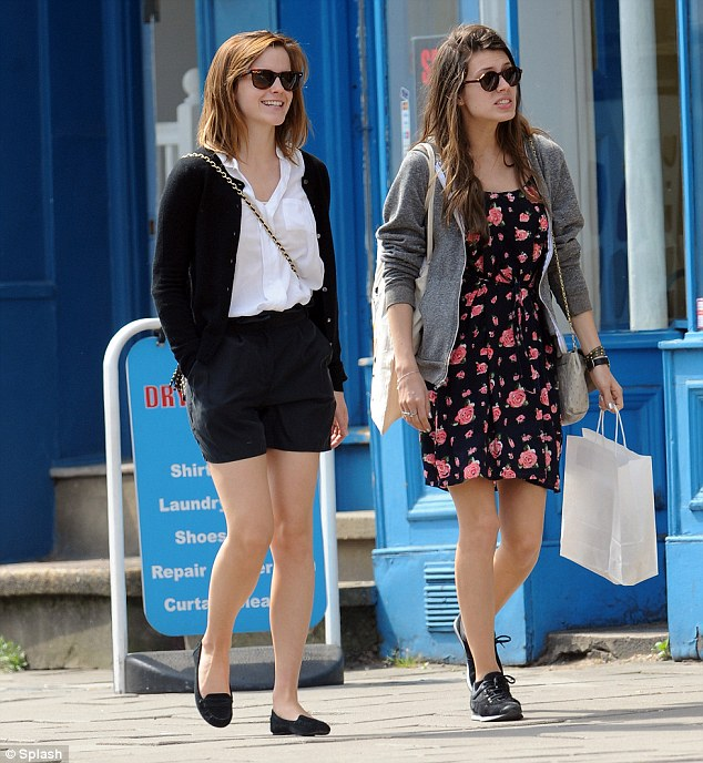 Looking chic: The Harry Potter star looked timeless in her shorts and shirt combo