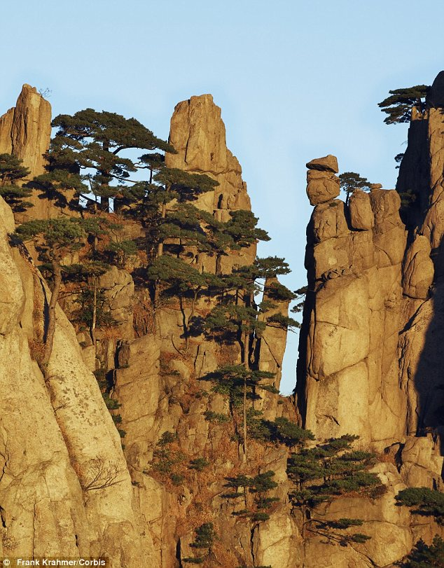 Huangshan's Yellow Mountain range in southern Anhui province in eastern China strengthened their claim when the film's director James Cameron said he had based the mountains on their site