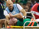 CARDIFF, WALES - OCTOBER 11:  Paul O'Connell of Ireland is stretchered off during the 2015 Rugby World Cup Pool D match between France and Ireland at Millennium Stadium on October 11, 2015 in Cardiff, United Kingdom.  (Photo by Phil Walter/Getty Images)