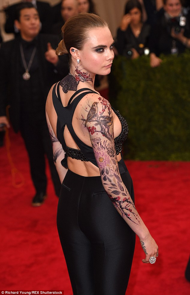 All eyes: The beauty ditched the red carpet dress code in favour of something very creative