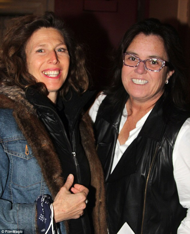 Just friends: Sophie B Hawkins says she is not dating Rosie O'Donnell, pictured on April 14 in New York