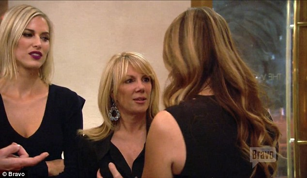 Inquiring minds: Heather noted that it was 'her favorite joke' and even squeezed Ramona's breasts as she questioned the Bravo star about her secret surgery