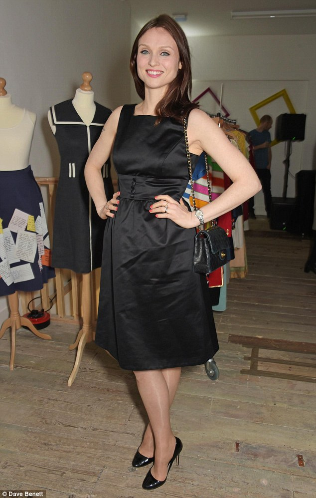 Never out of style: Sophie Ellis-Bextor went for the classic little black dress design in silk
