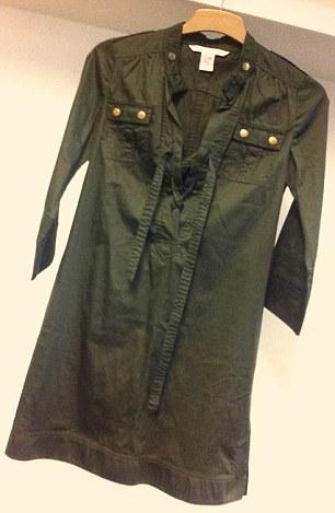 Alison Goldfrapp has donated this khaki green dress