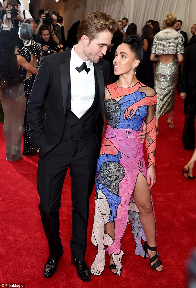 Loved up: They made their red carpet debut as a couple at the Met Gala the night before