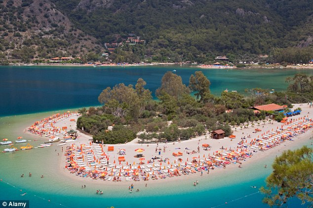 Looking for a nearby beach, try the beautiful heart-shaped sands of the Blue Lagoon in the Bay of Oludeniz
