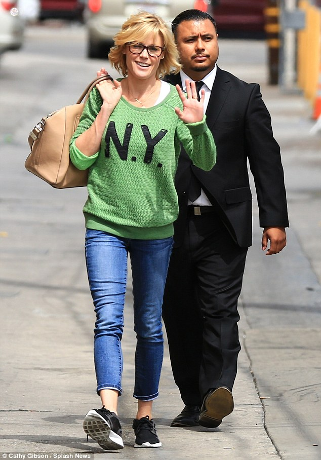 Left your heart in New York? Julie Bowen appeared to be in a chipper mood as she made her way towards Jimmy Kimmel Live! on Tuesday in Hollywood