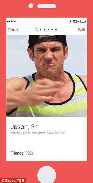 Clever trick: As users swipe through the fictional abuser's photo album, they see how he gets increasingly violent to the point where he is throwing punches