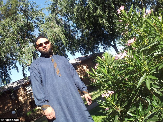 Recent: Nadir Soofi had become much more devout in appearance as this picture apparently taken near his home suggested.