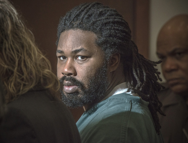 FILE - In this Nov. 14, 2014, file photo, Jesse Matthew Jr. looks toward the gallery while appearing in court in Fairfax, Va. Matthew, accused of abducting a...