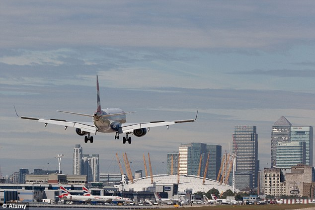 London City was the best-performing airport with an on-time rating of 88 per cent, the study found