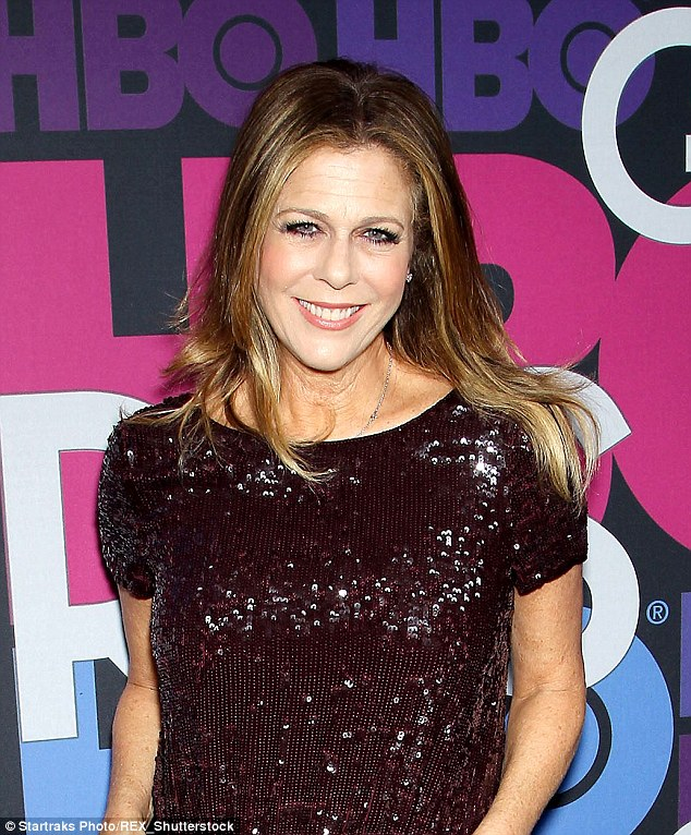 'So happy to be back on Bway!' Rita Wilson returned to Broadway's Fish in the Dark on Tuesday for the first time since her breast cancer diagnosis (pictured January 5)