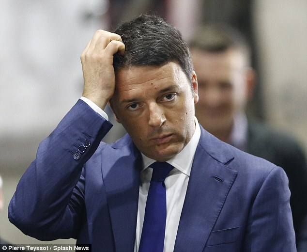 Backlash: Prime Minister Matteo Renzi thanked the citizens of Milan for cleaning up the damage caused by 'those with Rolexes who went around destroying shop windows'