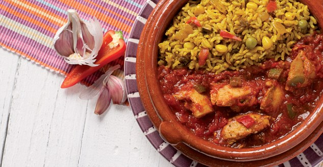 Among Kirsty's collection of ready meals are hearty dinners like this Spanish chicken dish, but it all started with a batch of homemade ice cream that she made using no dairy or added sugar for Jacob and his friends