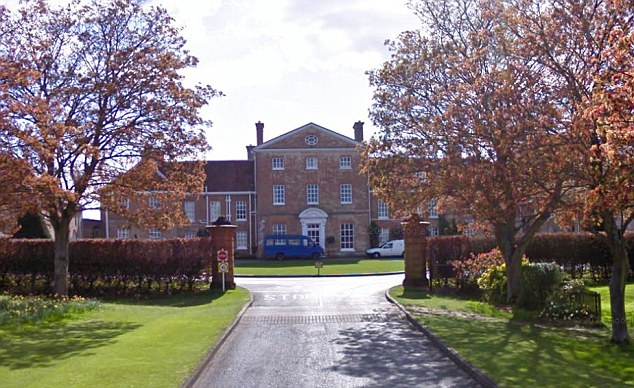 The crash took place outside the gates of the exclusive Oratory School in Oxfordshire (pictured), where Mr Evans and his colleague Michael Jennings were responding to an emergency call