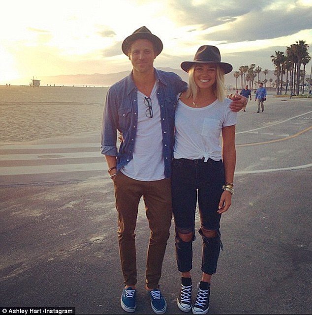 So cute:The pair - who have been dating for five years - took their relationship to the next level last year when Buck popped the question to the stunner while they were holidaying in the south of France