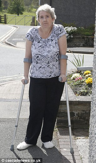 Debbie Stafford was left lying five minutes from an ambulance station with a broken hip, while a crew was sent to her aid from 30 miles away