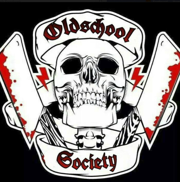 "The photo taken from the Facebook page of ""Oldschool Society"" on Wednesday, May 6, 2015 shows the logo of the group. German authorities conducted raids acros..."
