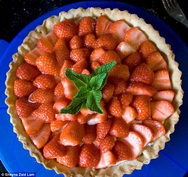 The writer made a strawberry tart with shortcrust pastry as the base