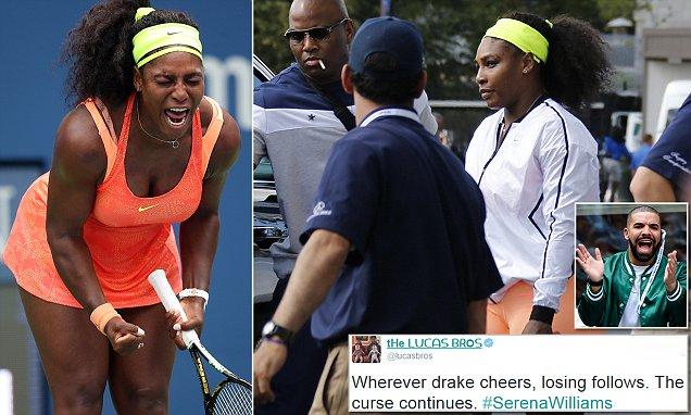 Twitter blames Drake for JINXING Serena Williams in US Open loss
