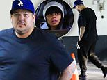 Exclusive... 51972625 Reality star Rob Kardashian and his model girlfriend Blac Chyna go to an office building in Los Angeles on February 16, 2016. After going public with his new romance, Rob has been busy working to improve his health, exercising more and watching his diet. ***NO WEB USE W/O PRIOR AGREEMENT - CALL FOR PRICING*** FameFlynet, Inc - Beverly Hills, CA, USA - +1 (310) 505-9876
