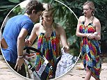 16.February.2016 - Rio de Janeiro - Brazil\n* EXCLUSIVE ALL ROUND PICTURES *\n*** STRICTLY AVAILABLE FOR UK AND GERMANY USE ONLY ***\nRio de Janeiro, Brazil - Fearne Cotton and Jesse Wood continue their family vacation in Rio and take a relaxing stroll through a Botanical Garden. They didn't last too long on their walk with all of the kids because of the heat so shortly went to a restaurant for some air and food. \nBYLINE MUST READ : AKM-GSI-XPOSURE\n***UK CLIENTS - PICTURES CONTAINING CHILDREN PLEASE PIXELATE FACE PRIOR TO PUBLICATION ***\n*UK CLIENTS MUST CALL PRIOR TO TV OR ONLINE USAGE PLEASE TELEPHONE 0208 344 2007*
