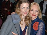 Mandatory Credit: Photo by Andrea Hanks/WWD/REX/Shutterstock (5587383c) Jaime King and Kate Bosworth Tory Burch show, Fall Winter 2016, New York Fashion Week, America - 16 Feb 2016