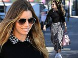 West Hollywood, CA - Jessica Biel stops by her new restaurant Au Fudge with a friend. Jessica is wearing a long gingham collared dress layered with a black sweater and paired with Adidas Superstar sneakers. \n  \nAKM-GSI       February 16, 2016\nTo License These Photos, Please Contact :\nSteve Ginsburg\n(310) 505-8447\n(323) 423-9397\nsteve@akmgsi.com\nsales@akmgsi.com\nor\nMaria Buda\n(917) 242-1505\nmbuda@akmgsi.com\nginsburgspalyinc@gmail.com