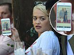 Singer Rita Ora and her friends check out pictures of Zendaya and Odell Beckham Jr from last nights Grammys and other peoples instagrams as they have lunch at Zinque in West Hollywood, Ca\n\nPictured: Rita Ora\nRef: SPL1225831  160216  \nPicture by: London Entertainment /Splash\n\nSplash News and Pictures\nLos Angeles: 310-821-2666\nNew York: 212-619-2666\nLondon: 870-934-2666\nphotodesk@splashnews.com\n