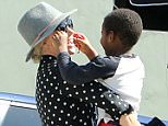 EXCLUSIVE TO INF February 20, 2016: Charlize Theron spotted out and about with her children in Hollywood. Mandatory Credit: Fresh/INFphoto.com Ref Code: infusla-283