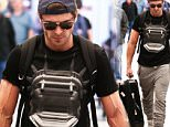 Picture Shows: Zac Efron  February 21, 2016\n \n 'Dirty Grandpa' actor Zac Efron and his girlfriend Sami Miro are spotted landing in Miami, Florida.  \n \n Zac's veins in his arms were bulging as he was carrying their pair's luggage.\n \n Exclusive All Rounder\n UK RIGHTS ONLY\n Pictures by : FameFlynet UK © 2016\n Tel : +44 (0)20 3551 5049\n Email : info@fameflynet.uk.com