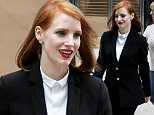 EXCLUSIVE: Jessica Chastain is seen leaving the set of 'Miss Sloane' in Toronto during a lunch break.  The filming was taking place inside an office building in Toronto.  The smiling  Chastain asked if the photographer got the winter boots she was wearing into the photograph.\n\nPictured: Jessica Chastain\nRef: SPL1208695  200216   EXCLUSIVE\nPicture by: Splash News\n\nSplash News and Pictures\nLos Angeles: 310-821-2666\nNew York: 212-619-2666\nLondon: 870-934-2666\nphotodesk@splashnews.com\n