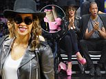 LOS ANGELES, CA - FEBRUARY 20:  Beyonce attends a basketball game between the Golden State Warriors and the Los Angeles Clippers at Staples Center on February 20, 2016 in Los Angeles, California.  (Photo by Noel Vasquez/GC Images)