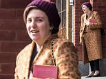 EXCLUSIVE: Lena Dunham seen chatting with friends while on her way to a meeting with a publisher in Brooklyn, New York City.\n\nPictured: Lena Dunham\nRef: SPL1230211  190216   EXCLUSIVE\nPicture by: Splash\n\nSplash News and Pictures\nLos Angeles: 310-821-2666\nNew York: 212-619-2666\nLondon: 870-934-2666\nphotodesk@splashnews.com\n