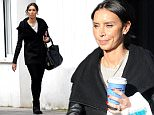 Television presenter Christine Lampard wearing a black coat, white top, black skinny jeans, ankle boots and finishing the look with a Louis Vuitton bag, out shopping in South West London, UK. 22/02/2016..BYLINE MUST READ : GOTCHAIMAGES.COM....Copyright by © Gotcha Images Ltd. All rights reserved...Usage of this image is conditional upon the acceptance ..of Gotcha Images Ltd, terms and conditions available at..www.gotchaimages.com