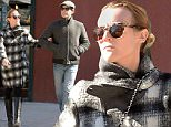 02/22/2016....EXCLUSIVE....New York, NY....Joshua Jackson and Diand Kruger seen out for a walk in Lower Manhattan. Photo by Doug Meszler