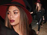 EXCLUSIVE: Nicole Scherzinger leaving Warwick night club with a burgundy hat, leather pants and an entourage.  Pictured: Nicole Scherzinger Ref: SPL1232922  210216   EXCLUSIVE Picture by: TwisT / Splash News  Splash News and Pictures Los Angeles: 310-821-2666 New York: 212-619-2666 London: 870-934-2666 photodesk@splashnews.com