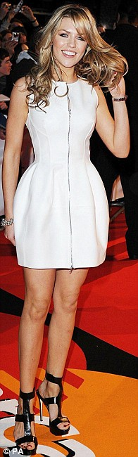 Abi Clancy arriving for the BRIT Awards, at Earls Court, central London