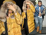 Rihanna & Drake are both seen here leaving Libertine Night Club At 5am in London where they had a private party along with Kendall Jenner & Chipmunk.  Pictured: Drake Ref: SPL1233631  220216   Picture by: WeirPhotos / Splash News  Splash News and Pictures Los Angeles: 310-821-2666 New York: 212-619-2666 London: 870-934-2666 photodesk@splashnews.com