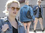 Exclusive... 51977034 Actress Jennifer Lawrence and a friend are spotted out for lunch at The Holloway in Echo Park, California on February 21, 2016. Jennifer who just returned from New York was rocking a jean jacket with the word 'Perv' on the back. FameFlynet, Inc - Beverly Hills, CA, USA - +1 (310) 505-9876