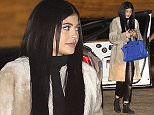 21.February.2016 - Malibu Ò USA *** STRICTLY AVAILABLE FOR UK AND GERMANY USE ONLY *** Malibu, CA - Kylie Jenner arrives to Nobu for Jonathan Cheban's Birthday dinner. The young Jenner flaunted her brand new blue Hermes bag along with black leather pants/ top, and long fur coat.  BYLINE MUST READ : AKM-GSI-XPOSURE ***UK CLIENTS - PICTURES CONTAINING CHILDREN PLEASE PIXELATE FACE PRIOR TO PUBLICATION *** *UK CLIENTS MUST CALL PRIOR TO TV OR ONLINE USAGE PLEASE TELEPHONE 0208 344 2007*