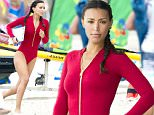 Ilfenesh Hadera shows off stunning new Baywatch bikini while filming Baywatch movie in Florida. The new update to the classic red bikini from the TV show featured a cold zip. Hawera, who plays the character Stef was shooting with Dwayne Johnson AKA The Rock in Deerfield Beach, Florida.\n\nPictured: Ilfenesh Hadera\nRef: SPL1233474  230216  \nPicture by: Splash News\n\nSplash News and Pictures\nLos Angeles: 310-821-2666\nNew York: 212-619-2666\nLondon: 870-934-2666\nphotodesk@splashnews.com\n