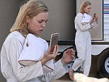 148469, EXCLUSIVE: Melissa George steps out of her vanity van on the set of 'Heartbeat' in Los Angeles. Los Angeles, California - Monday February 22, 2016. Photograph: Miguel Aguilar, © PacificCoastNews. Los Angeles Office: +1 310.822.0419 sales@pacificcoastnews.com FEE MUST BE AGREED PRIOR TO USAGE