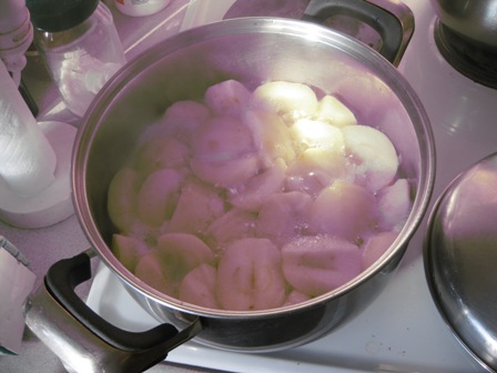 stew your apples:
