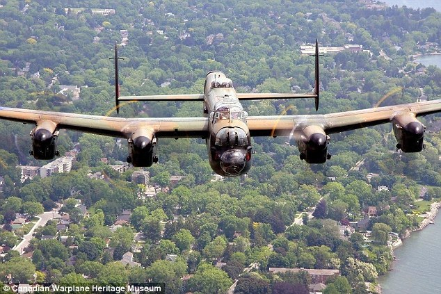 Flight with a view: The Lancaster will be flying at below 10,000ft as the cabin isn't pressurised