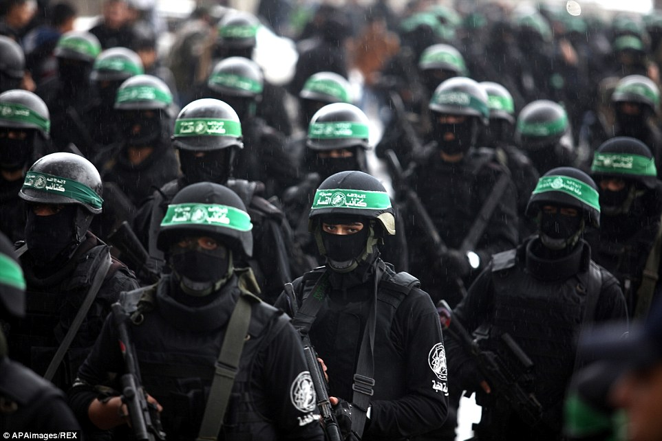 Addressing a crowd of several thousand in the rain, AbuAbaida praised Iran for supplying Hamas with money and weapons