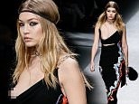 Picture Shows: Gigi Hadid  February 26, 2016\n \n Celebrities were spotted attending the Versace fashion show during Milan Fashion Week fall/winter 2016/2017 in Italy.\n \n Non-Exclusive\n UK RIGHTS ONLY\n \n Pictures by : FameFlynet UK © 2016\n Tel : +44 (0)20 3551 5049\n Email : info@fameflynet.uk.com