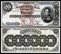 $20 Silver Certificate, Series 1880, Fr.311, depicting Stephen Decatur