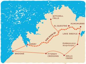 Kimberley Safari Tours Outback Itinerary Map